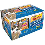 Friskies Prime Filets Seafood Selections Variety Pack, Seafood, 5.5-Ounce Cans (Pack of 24) ~ Purina Friskies