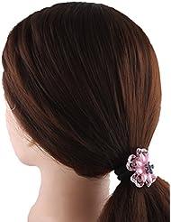 Anuradha Art Adorning Pink Colour Designer Stylish Hair Band Stylish Rubber Band For Women/Girls