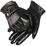 Coromose® Mens Leather Winter Super Driving Warm Gloves