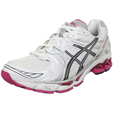 ASICS Women's GEL-Kayano 17 Running Shoe,White/Carbon/Magenta,12.5 M US