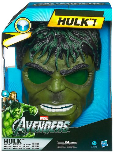 Marvel Avengers Hulk Electronic Light-up Face Mask Costume Dress-up Picture