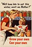 (13x19) We'll Have Lots to Eat This Winter Grow Your Own Can Your Own WWII War Propaganda Art Poster