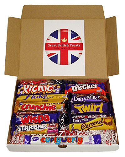Cadbury Selection Box of 10 Full Size British Chocolate Bars From Great British Treats (The British Grocery compare prices)