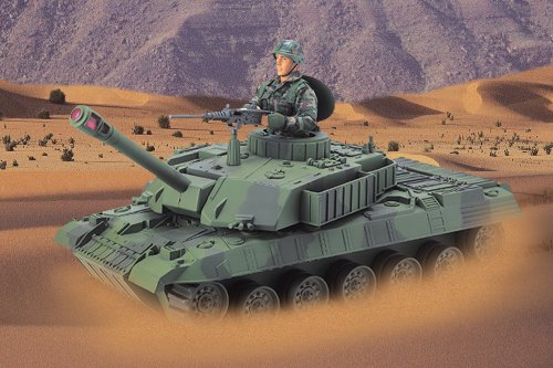 Buy Low Price M & C Toy Power Team Combat Tank with 12″ Military Action Figure (B0006H8OC8)