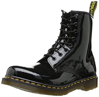 Dr. Martens 1460 Patent BLACK, Damen Bootsschuhe, Schwarz (Black), 36 EU (3 Damen UK)