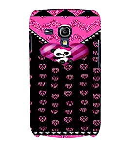 PrintVisa Cute Teddy Love Pattern 3D Hard Polycarbonate Designer Back Case Cover for Samsung Galaxy S3 Mini
