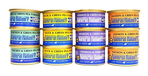 Natural Balance Limited Ingredient Diet Grain Free Cat Food Variety Pack - 4 Flavors (Salmon & Green Pea, Venison & Green Pea, Duck & Green Pea, and Chicken & Green Pea Formula) - 3 Ounce Each (12 Cans Total) (Natural Balance Green Pea Duck compare prices)