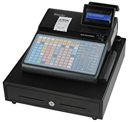 SAM4s ER-920 Cash Register with flat keyboard, receipt printer and MSR