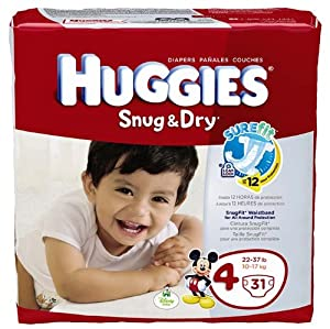 Huggies Diapers Snug & Dry Size 4 Jumbo Pack 31 Count