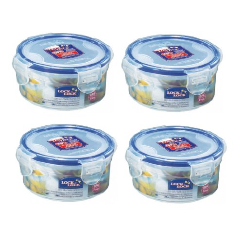 Lock & Lock Food Container Snack Box, HPL932, 1.2-cup, 10-oz, Pack of 4 (Easy Lock Food Containers compare prices)