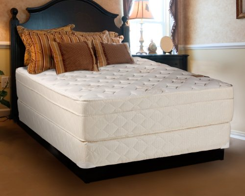 Comfort Bedding Eurotop Foam Encased Luxury Extra Firm 13-Inch Innerspring Mattress Set And Box, Full