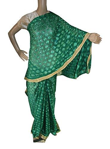 Beautiful RUDA Designer Phulkari Embroidered Saree-JS1119