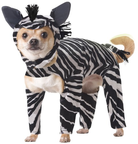 Animal Planet Pet20100 Zebra Dog Costume, Small front-1054680
