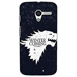 Jugaaduu Game Of Thrones GOT House Stark Back Cover Case For Moto X (1st Gen)
