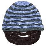 EOZY 可笑しいヒゲデザイン毛糸手作りマスク帽子防寒保温能力一流超目立つ男女兼用メンズレディース