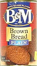 B&M Bread Plain Brown, 16-Ounce (Pack of 12)