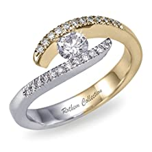 buy Outstanding 0.55 Tcw H I1 Twist Diamond Engagement Ring 14K Two Tone Gold 04541060