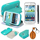 (TRAIT)5IN1 Green SilicaGel Leather Cases For Samsung S7562 Galaxy Trend Duos Protective Skin Covers+3*Screen Protector+Touch Pen