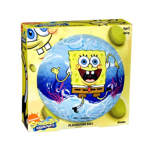 SpongeBob SquarePants Rubber Playground Ball, 8.5 inches(Colors and Styles May Vary)
