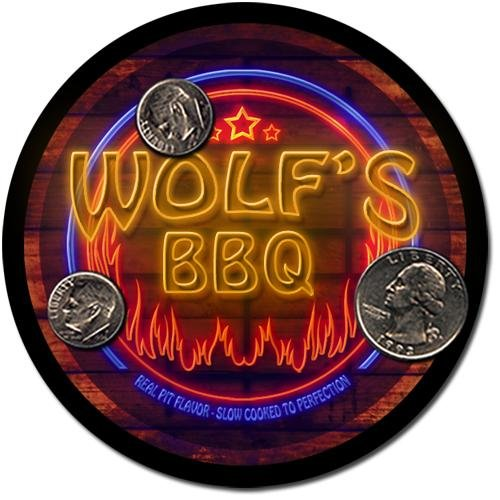 Wolf'S Barbeque Drink Coasters - 4 Pack
