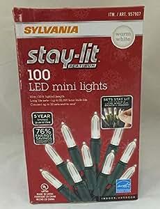 sylvania stay lit platinum led indoor outdoor christmas string lights. Black Bedroom Furniture Sets. Home Design Ideas