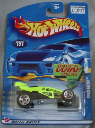 Hot Wheels 2002 Shock Factor NEON YELLOW #121 - 1