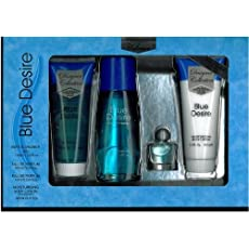 Blue Desire Gift Set 4 Pieces [3.4 Fl. oz. Eau De Parfum Spray +3.4 oz. Gel+.5 oz. Miniature +3.4 oz. Body Lotion] Women