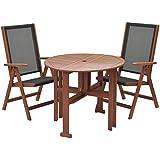 山善(YAMAZEN) ガーデンマスター バタフライテーブル&チェア(3点セット) MFT-913BT/MFC-259D
