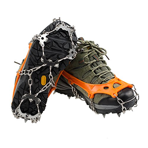 19-Dents-Crampons-HLHome-Griffe-Neige-Plein-Air-Fer-Crampon-Arm-Escalade-Couvert-Raquettes-Neige