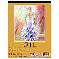 "U.S. Art Supply 9"" x 12"" Premium Heavy-Weight Oil Painting Paper Pad, 90 Pound (190gsm), Pad of 15-Sheets from US Art Supply"