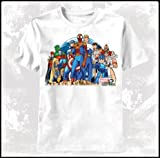 Marvel vs Capcom Group Stance Mens T-Shirt White