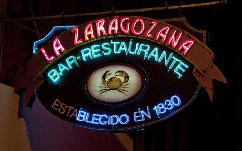 Photography Poster - Neon Sign Of The La Zaragozana Bar-Restaurant In Havana ...