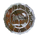 Moose Rust Patina and Burnished Steel Wall Clock (12 inch)