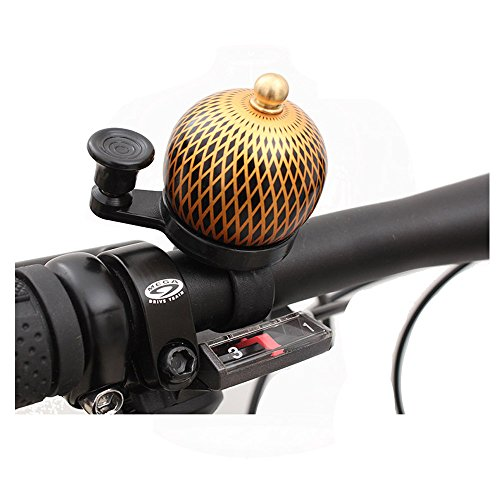 M-BLANC Mini Retro Bicycle Bell Round Handlebar Mount Copper Cover Safety Warning Bike Horn Bell 0