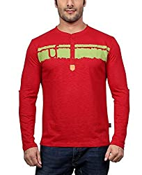 National Garments Men's Cotton T-Shirt_005a_Red_S