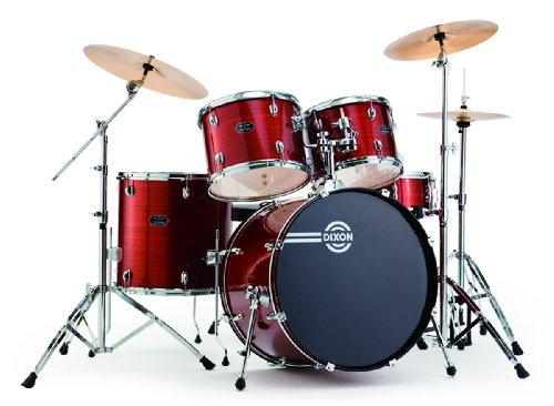 Dixon Spark Podsk522Crd 5-Piece Drum Set, Cyclone Red