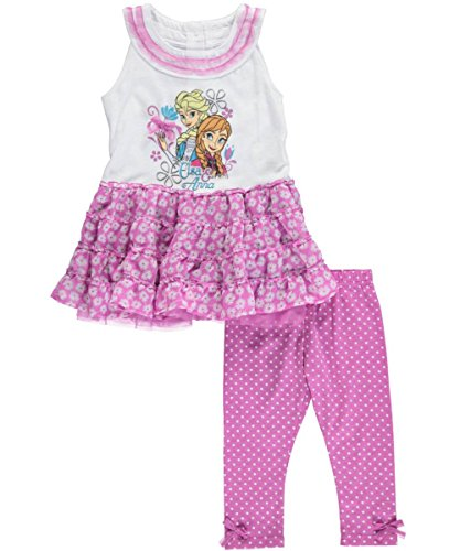 "Disney Frozen Little Girls' Toddler ""Winter Daisies"" 2-Piece Outfit"