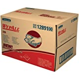 "Kimberly-Clark Wypall X90 Hydroknit Cloth, 16-51/64"" Length x 11-3/32"" Width, White (Case of 136)"