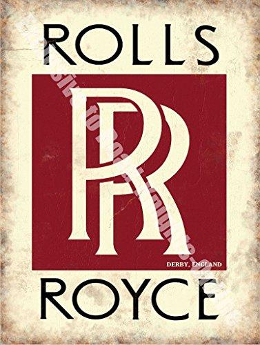 rolls-royce-rr-insegne-derby-inghilterra-sevice-vendite-logo-rosso-bianco-e-nero-vecchio-retro-vinta