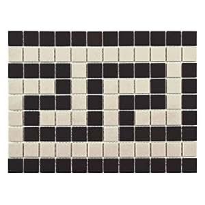 Antique hex greek key 9 3 4 x 13 inch border porcelain for 13 inch ceramic floor tile