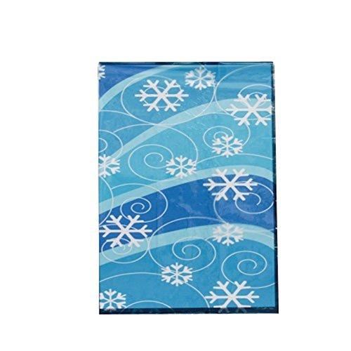 Lot Of 12 Snowflake Winter Theme Cello Cellophane Party Bags