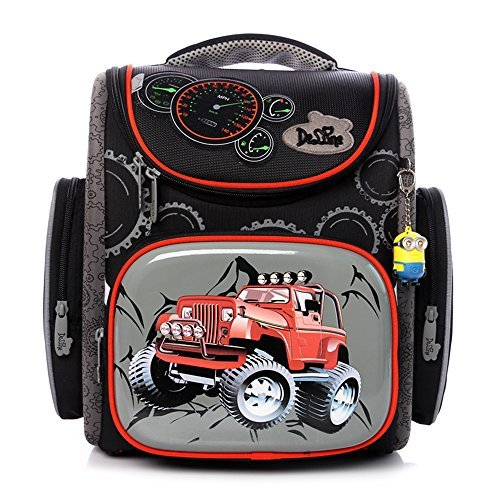 delune-boys-school-bag-cartoon-large-capacity-orthopedic-backpackhummer-black