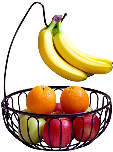 DecoBros Wire Fruit Tree Bowl with Banana Hanger, Bronze (Fruit Tree Holder compare prices)