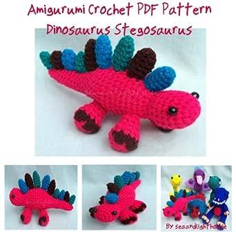 Gourmet Crochet Amigurumi Dinosaurs : Little Dinosaur Stegosaurus Amigurumi crochet pattern ...