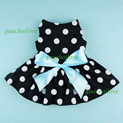 Fitwarm® Cute Polka Dot Ribbon Dog Dress Dog Clothes Cozy Dog Shirt Pet Dress