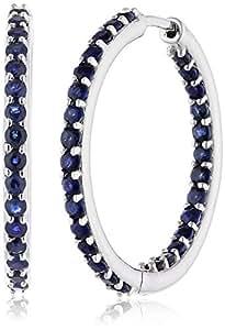 Fascination by Ellen K. - F170310018-2 - Boucles d'Oreilles Femme - Or blanc 333/1000 (8 carats) 3.2 Gr - Saphir