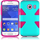 TealOnPink Double Protection Hi-Tech DURABLE Two in One Hard and Silicon Cover Case for Samsung Galaxy Ace Style S765C (by Tracfone , Straight Talk) with Free Gift Reliable Accessory Pen