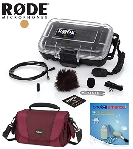 Rode Lavalier Condenser Microphone, Omni W/ Lowepro Gadget Bag, Cleaning Kit