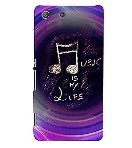 PRINTVISA Quotes Music Case Cover for Sony Xperia M5 Dual E5633 E5643 E5663:: Sony Xperia M5 E5603 E5606 E5653
