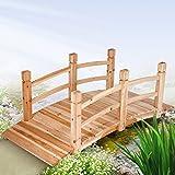 Jago Teichbrücke Gartenbrücke aus Holz mit Geländer
